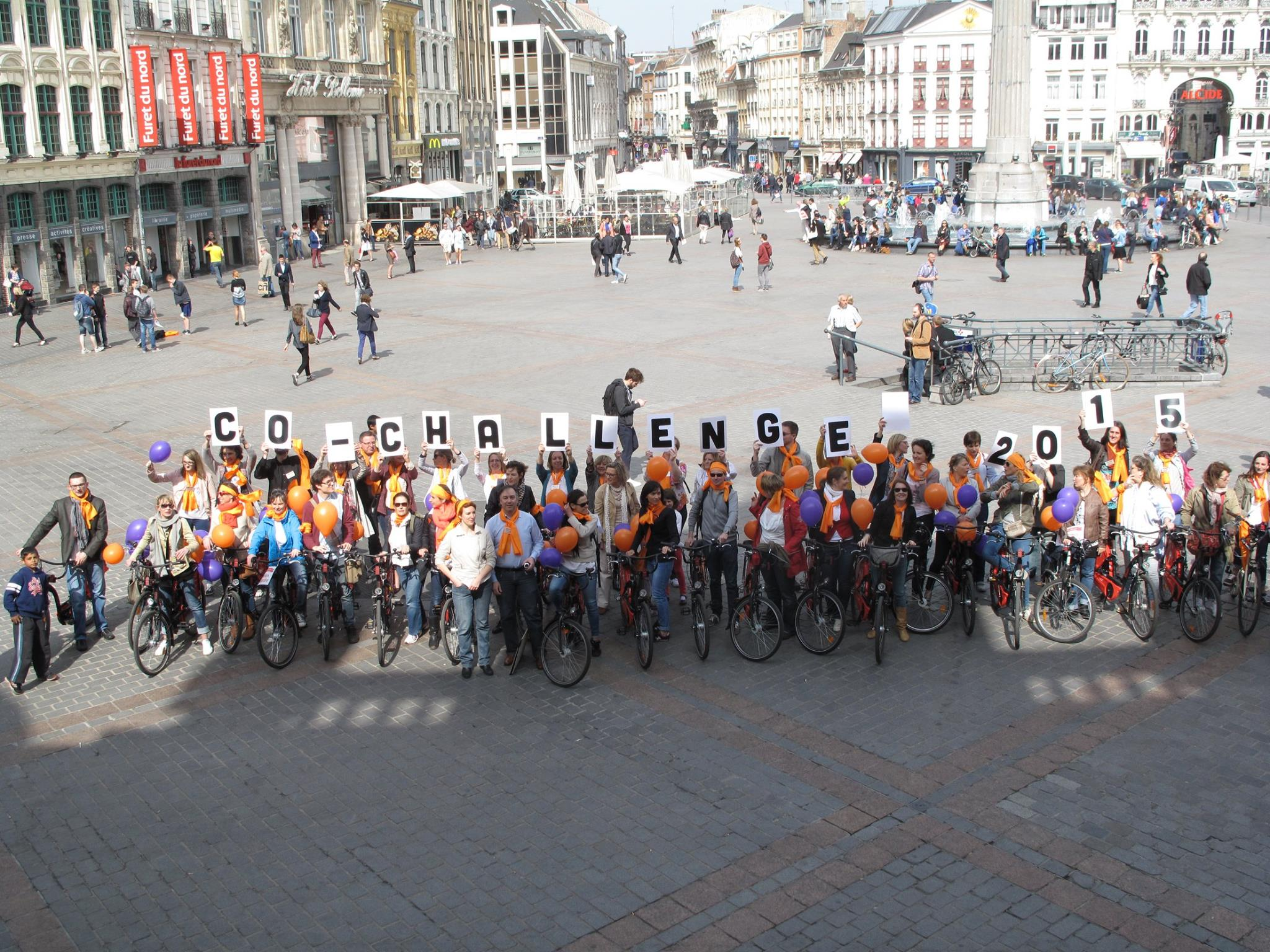 Les Co-Challengers sur la Grand Place de Lille