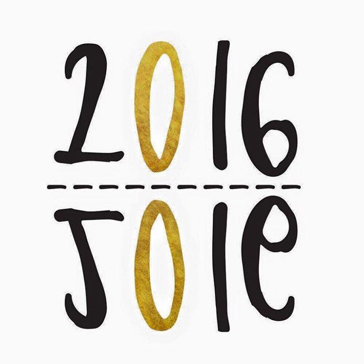 2016, année de la joie !