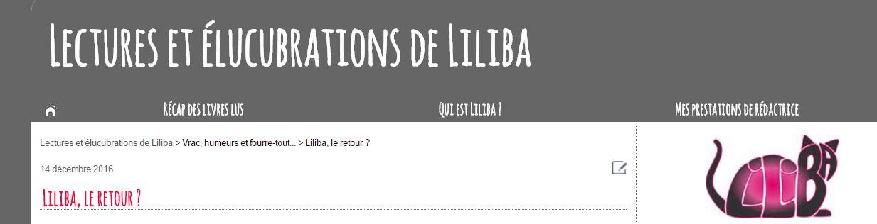 Blog Lectures de Liliba