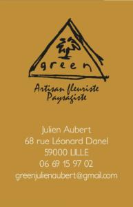 Green, artisan fleuriste à Lille