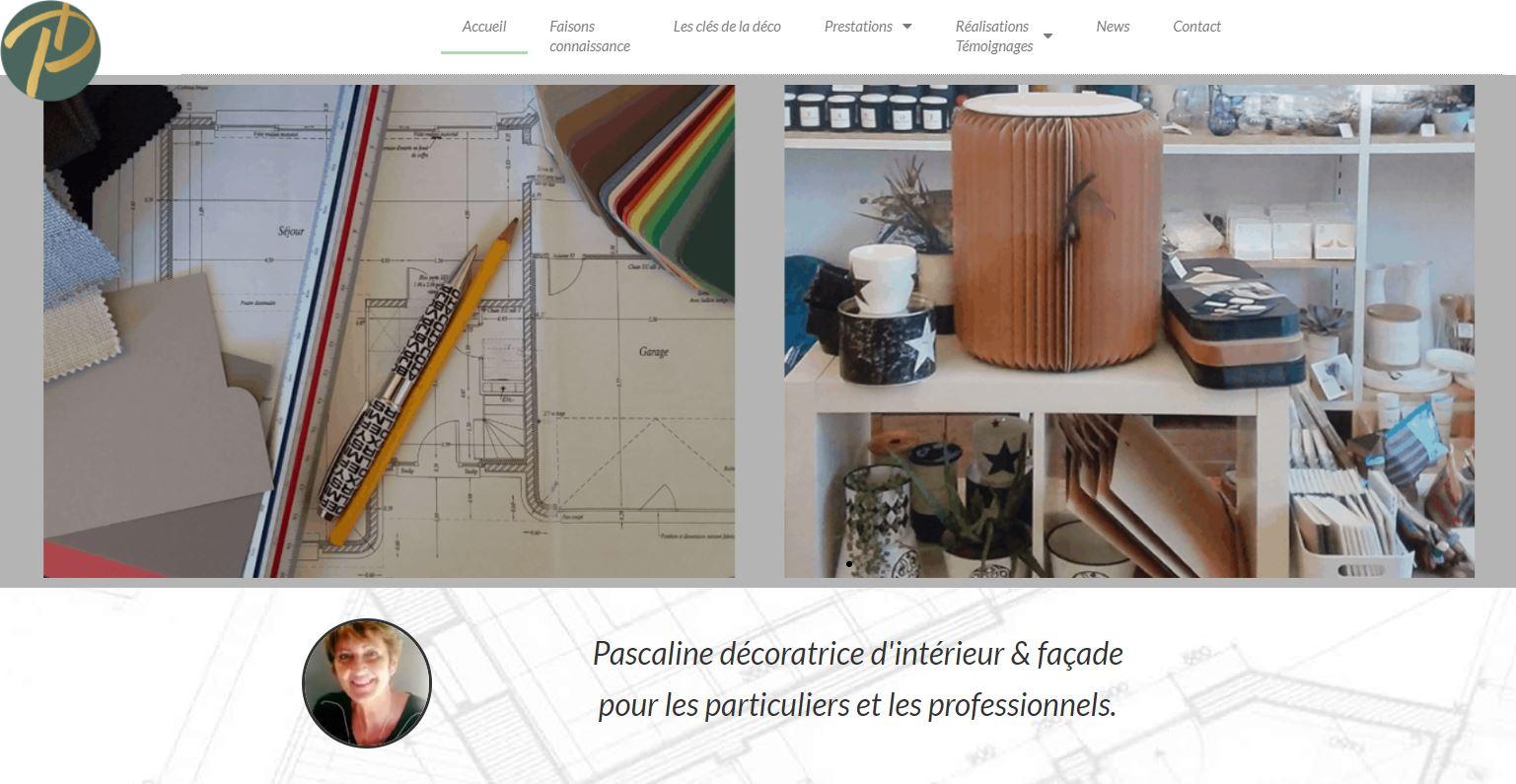 Rédaction du contenue du site web de Pascaline Duval Décoratrice
