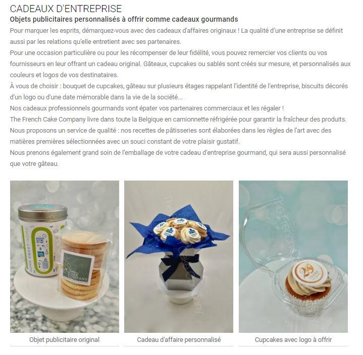 french cake company cadeaux entreprise