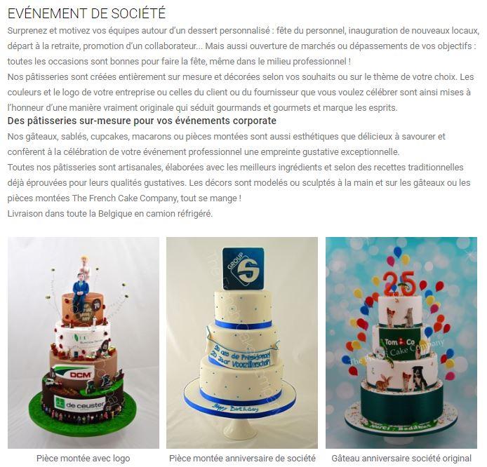 french cake company événements
